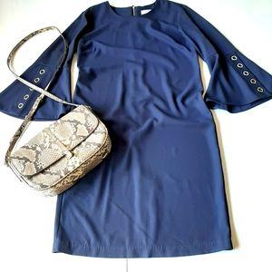 CARMEN MARC VALVO INFUSION NAVY BLUE DRESS